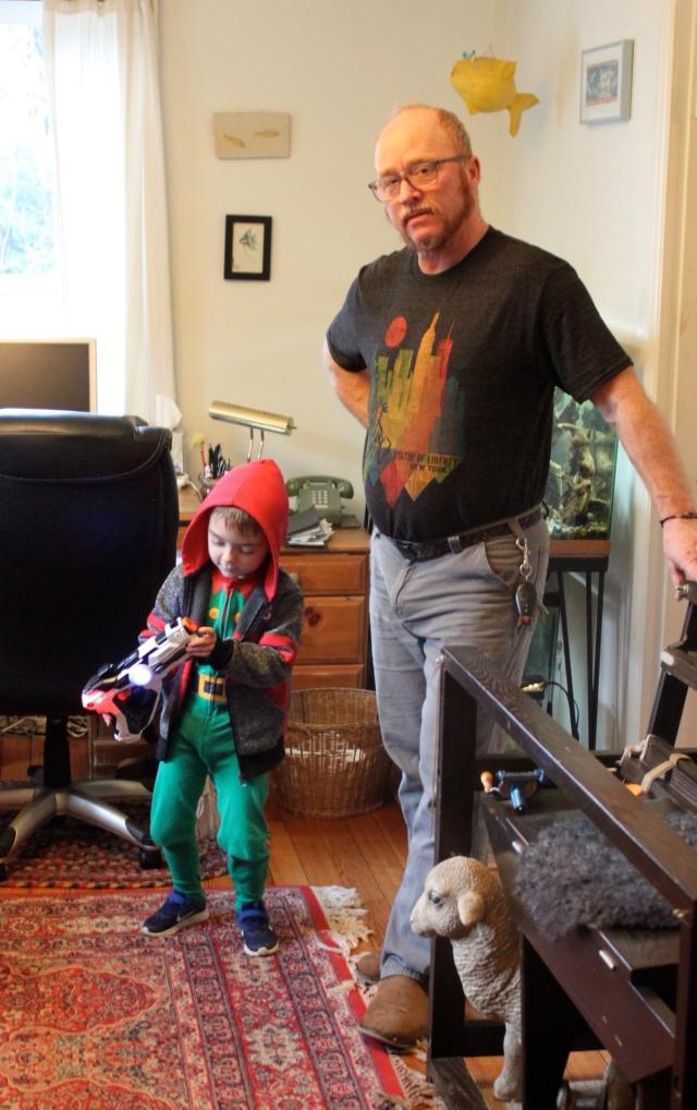 Elf William and Grampa Tom