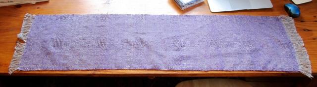 purple table runner mat