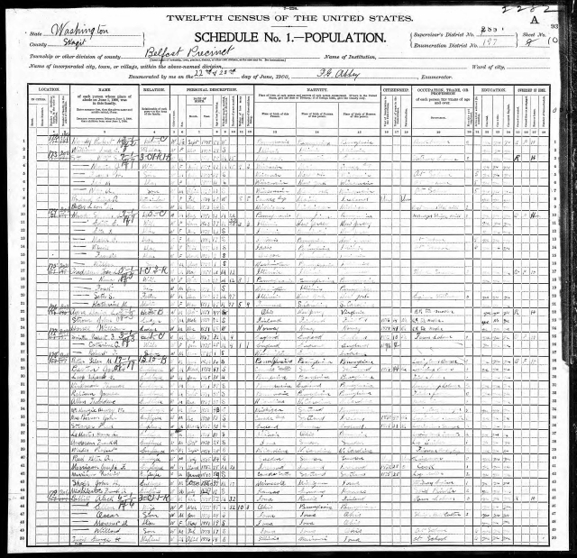 1900 census for belfast page 2