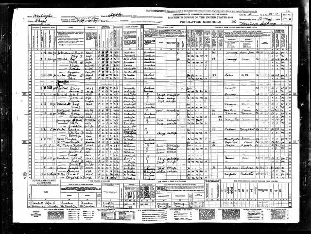 1940 United States Federal Census Belfast page 1
