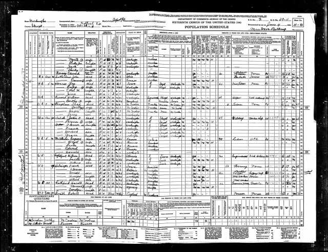 1940 United States Federal Census Belfast page 8