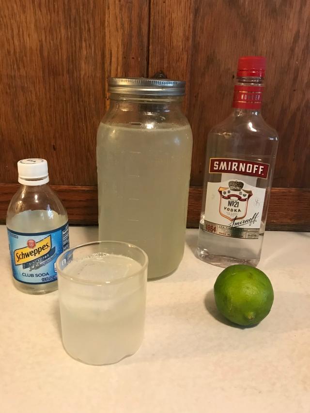 Improved Ginger Beer with vodka