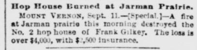 Jarman Prairie Fire 1891