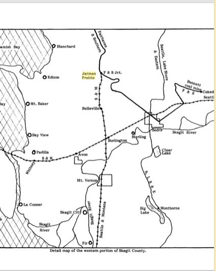 Jarman Prairie on railroad map