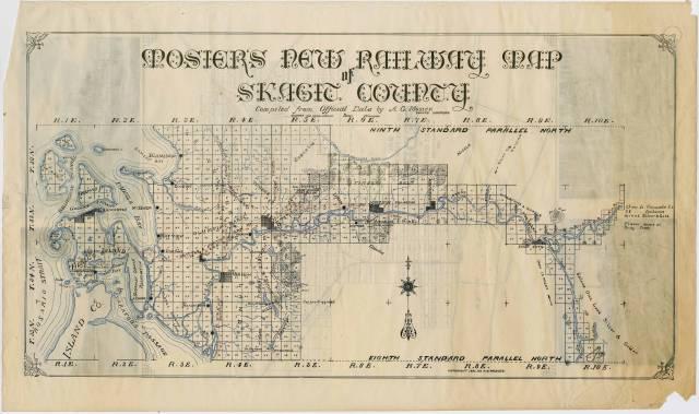 Mosier's new railway map of Skagit County 1892