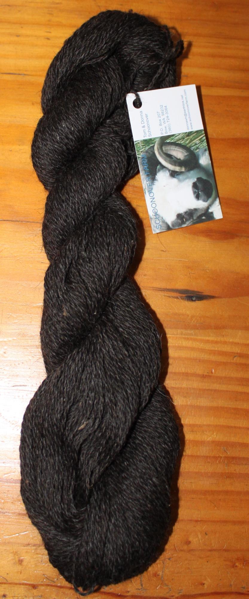 2 ply sportweight black Shetland yarn from Hodor, Diddley, Jet & Madonna, ~3 oz, 250 yards, $9 1217