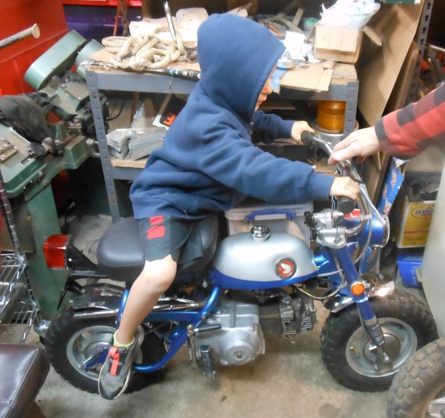 blue 1969 Z50 and William