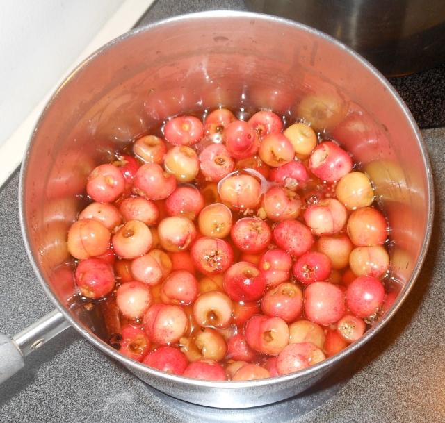 cherries in brandy sauce
