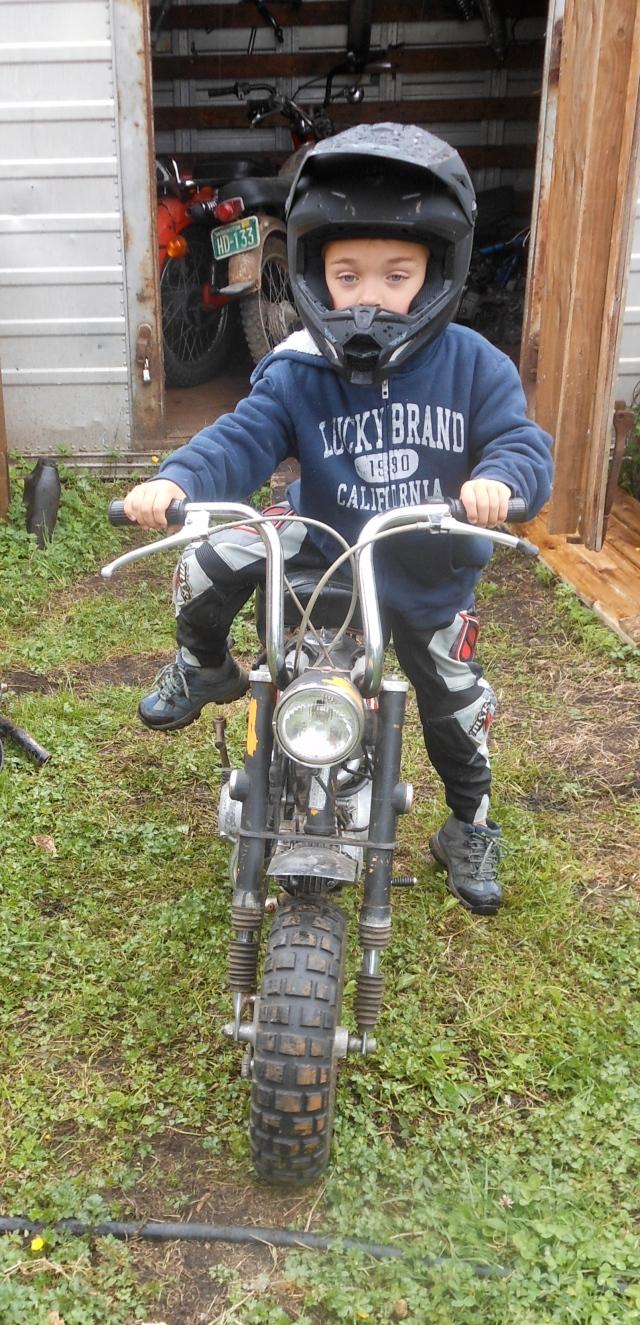 William on his mini bike