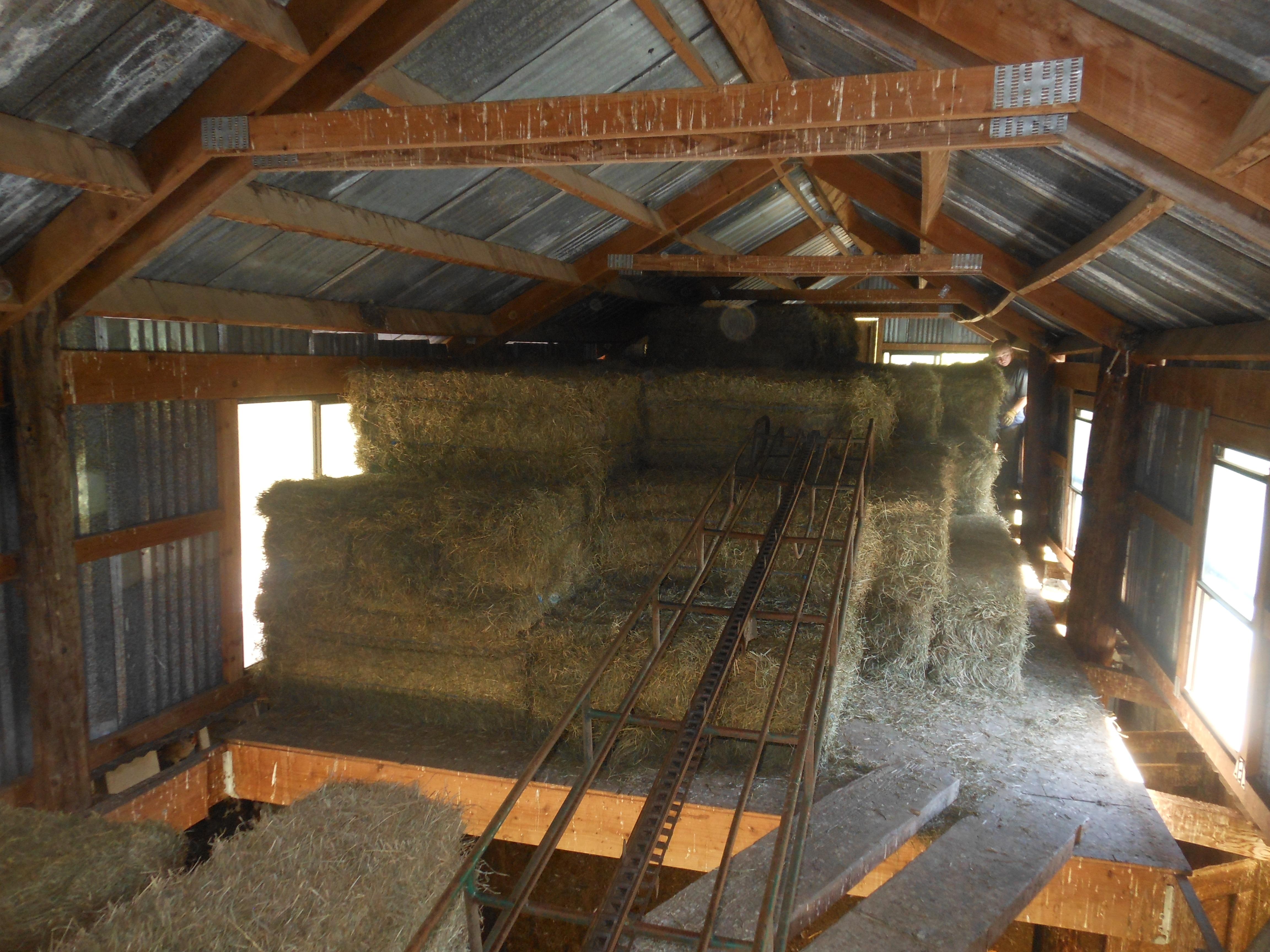 6 tons in hay loft