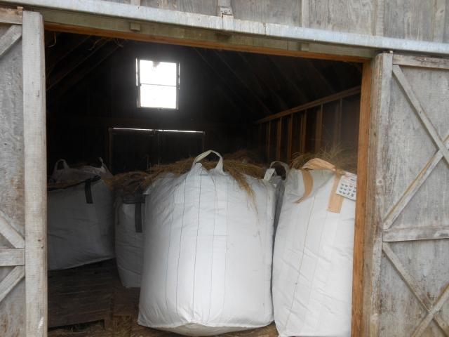 bags of hay