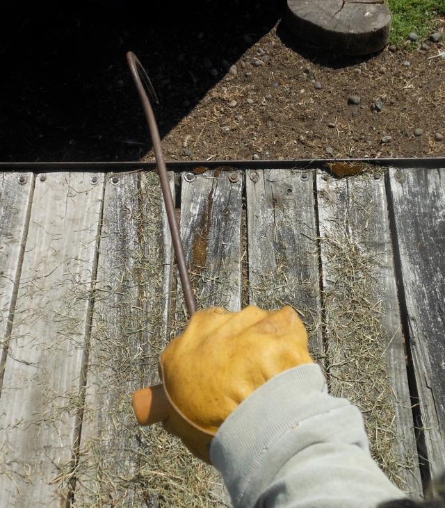 keeping hay hook off thumb